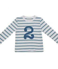 Geburtstagsshirt 2 ocean blau und weiß auf mina-lola.com von Bob and Blossom