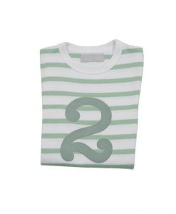 Geburtstagsshirt 2 seafoam-weiß
