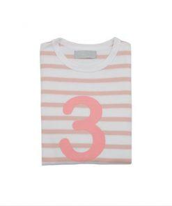 Geburtstagsshirt 3 dusty pink und weiß auf mina-lola.com von Bob and Blossom