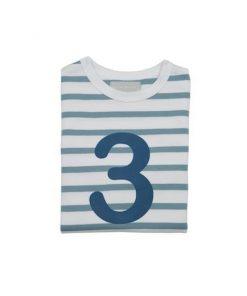 Geburtstagsshirt 3 ocean blau und weiß auf mina-lola.com von Bob and Blossom