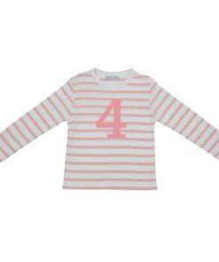 Geburtstagsshirt 4 dusty pink uns weiß auf mina-lola.com von Bob and Blossom