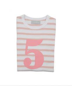 Geburtstagsshirt 5 dusty pink un weiß auf mina-lola.com von Bob and Blossom