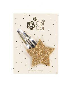 Haarspange Stern Gold Obi Obi auf www.mina-lola.com