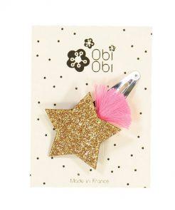 Haarspange Gold Shooting Star Obi Obi auf www.mina-lola.com