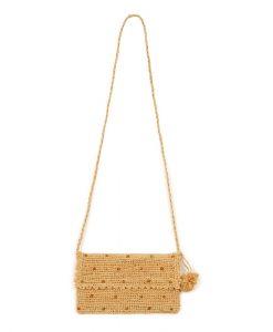 Handtasche Gehäkelt Federstickerei Gold auf mina-lola.com von Obi Obi