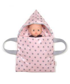 Babytragetasche pink stars auf mina-lola.com von minikane