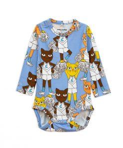Body LS Cheercats Blue Mini Rodini auf www.mina-lola.com