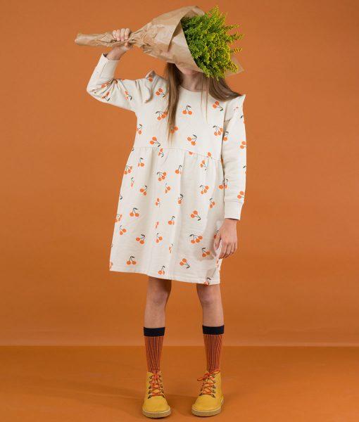 Dress Fleece Cherries Tinycottons auf www.mina-lola.com