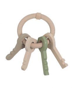 Holz Schlüsselanhänger Rassel Mint auf mina-lola.com von Nofred