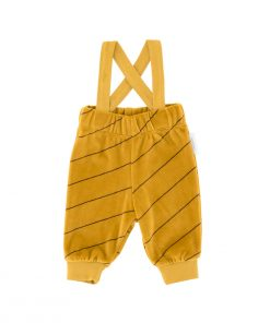 Pant Diagonal Stripes Plush Braces Tinycottons auf www.mina-lola.com