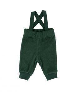 Pant Solid Towel Braces Dark Green Tinycottons auf www.mina-lola.com