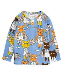 Shirt LS Cheer Cats Grandpa Blue Mini Rodini auf www.mina-lola.com