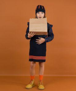 Skirt Rip Navy Tinycottons auf www.mina-lola.com