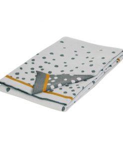 Strickdecke Happy Dots Grau auf mina-lola.com von Done by Deer