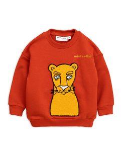 Sweatshirt Cat Patch Red Mini Rodini auf www.mina-lola.com