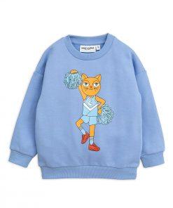 Sweatshirt Frottee Cheer Cats Mini Rodini auf www.mina-lola.com