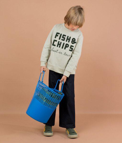 Sweatshirt Fish & Chips Tinycottons auf www.mina-lola.com