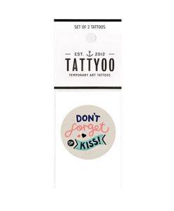 Tattoo Don´t Forget to Kiss von Tattyoo auf www.mina-lola.com