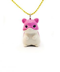 Halskette pinker Hamster Pop Cutie auf www.mina-lola.com