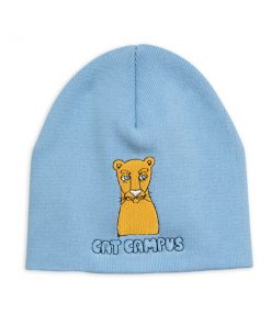 Beanie Cat Campus Light Blue Mini Rodini auf www.mina-lola.com