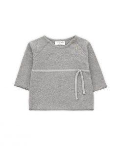 T-Shirt CUCA mit Schleife Grau 1+ in the family auf www.mina-lola.com