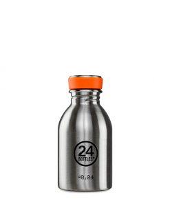 Trinkflasche Edelstahl 0,25l auf www.mina-lola.com von 24bottles