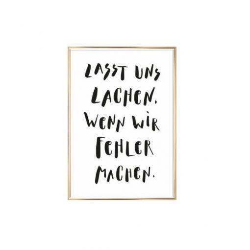 Artprint Lasst Uns Lachen wenn wir Fehler machen Eulenschnitt auf www.mina-lola.com