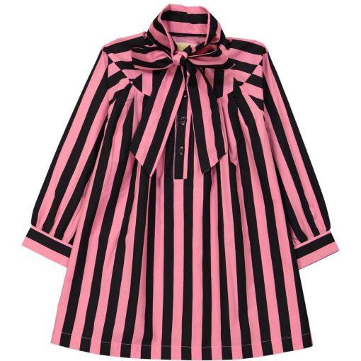 Dress Pink Black Stripes auf www.mina-lola.com von Hugo Loves Tiki
