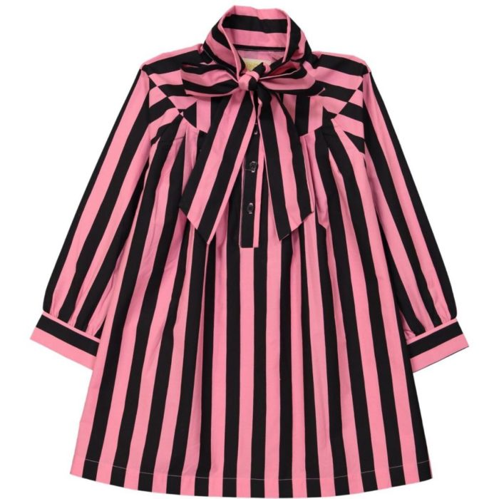 Dress Pink Black Stripes auf www.mina-lola.com von Hugo Loves Tiki