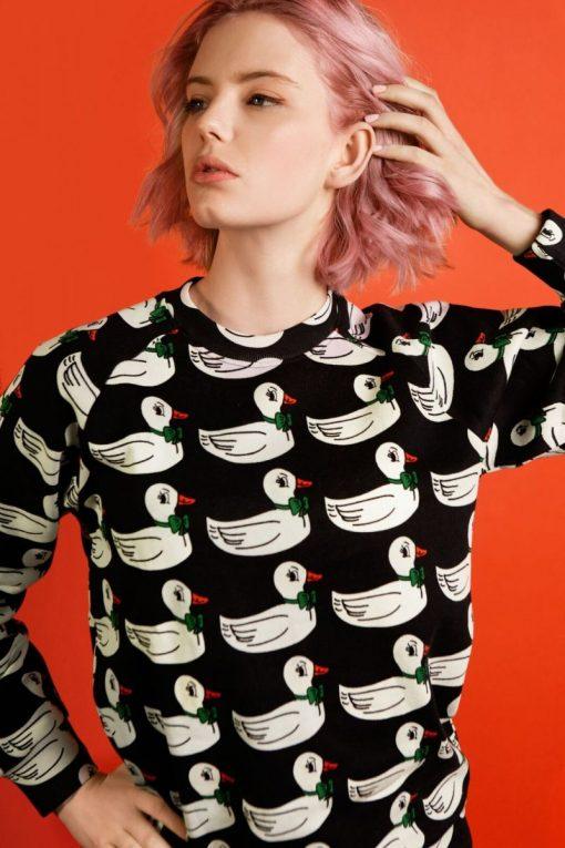Sweatshirt Black Ducks Adult auf www.mina-lola.com von Hugo Loves Tiki
