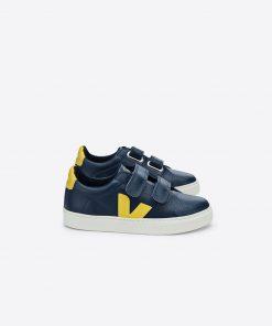 Sneaker VEJA ESPLAR LEATHER NAUTICO GOLD YELLOW auf mina-lola.com