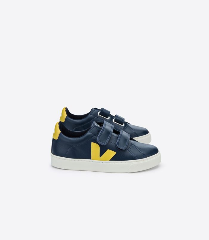 Sneaker VEJA ESPLAR LEATHER NAUTICO GOLD YELLOW auf mina-lola.com