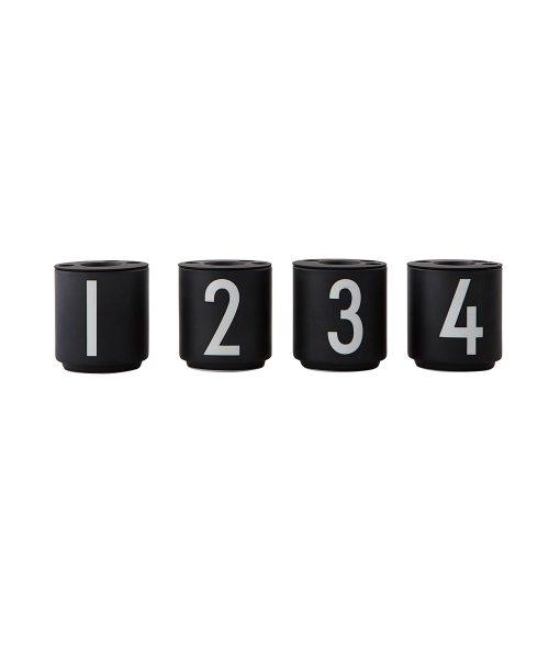 Espresso Becher Black 1234 Design Letters auf www.mina-lola.com