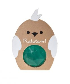 Flummi Vogel Diamant Grün Ratatam auf www.mina-lola.com