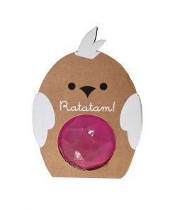 Flummi Vogel Diamant Rosa Ratatam auf www.mina-lola.com
