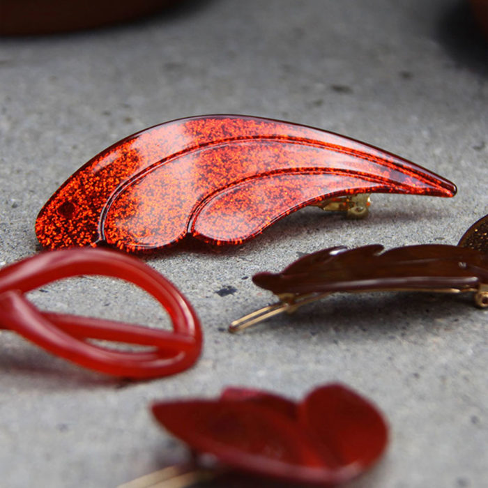 Haarspange WAVE Rot von Little Olga auf www.mina-lola.com