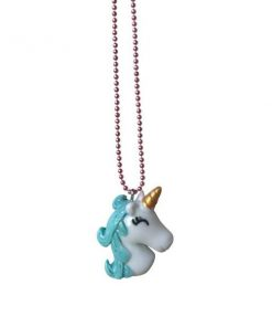Halskette Sleepy Unicorn Blue Pop Cutie auf www.mina-lola.com