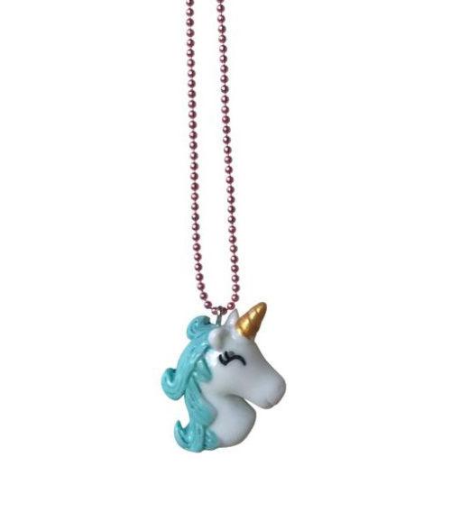 Halskette Sleepy Unicorn Blue Pop Cutie auf www.mina-lola.com