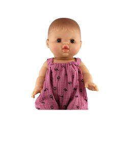 Puppenkleid rosa mit Ziffern auf www.mina-lola.com von Minikane