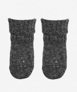 Rutschfeste Socken Dark Grey Melange ALPACA auf www.mina-lola.com von GoBabyGo