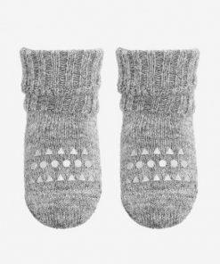 Rutschfeste Socken Grey Melange ALPACA auf www.mina-lola.com GoBabyGo