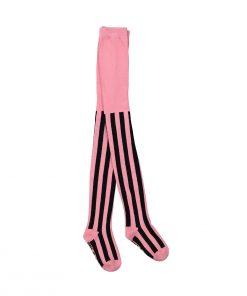 Strumpfhose Pink Black Stripes von Hugo Loves Tiki auf www.mina-lola.com
