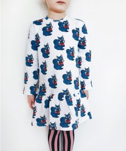 Sweatdress Blue Squirrels von Hugo Loves Tiki auf www.mina-lola.com