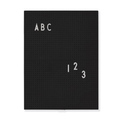 Message Board A4 Black auf mina-lola.com von Design Letters