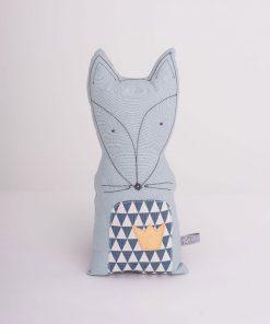 Schmusekissen Fox Blau von Lilli-Marleen auf www.mina-lola.com