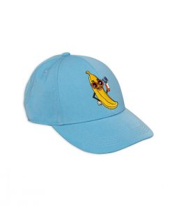 Cap Banana Embroidery Light Blue von Mini Rodini auf www.mina-lola.com