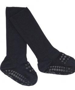 Rutschfeste Socken Bambus Dunkelblau auf www.mina-lola.com von GoBabyGo