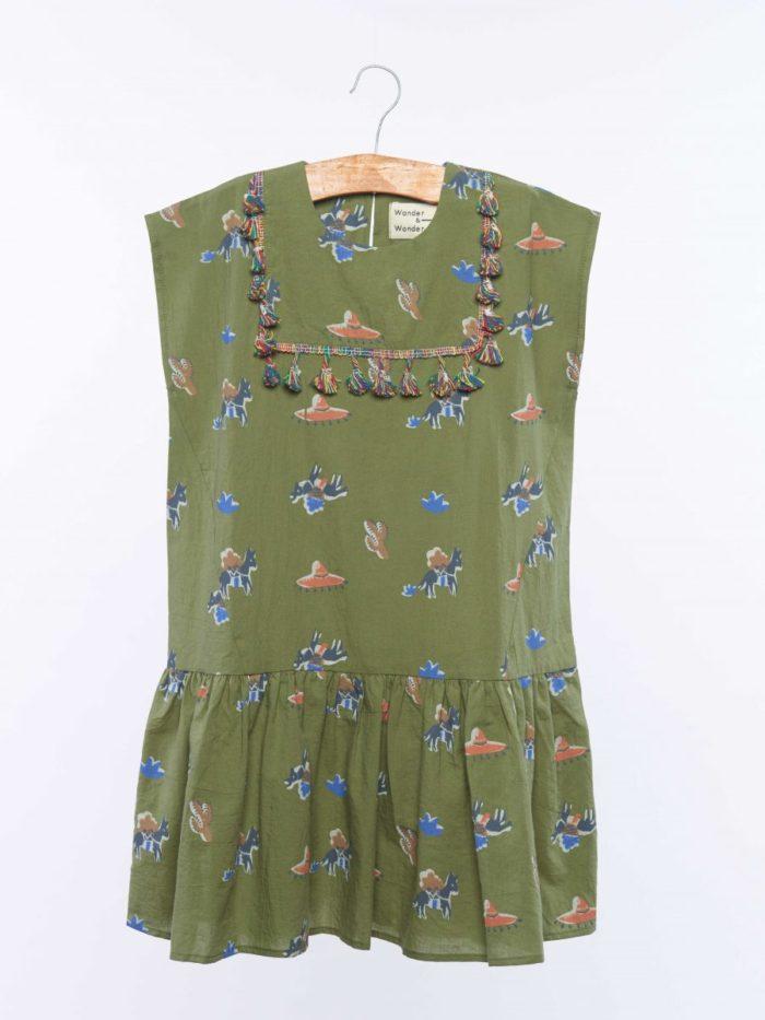 Camila Kleid Olive Pony auf www.mina-lola.com von Wander & Wonder