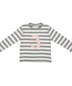 Geburtstagsshirt 3 Grey Marl- Weiß von auf www.mina-lola.com von Bob&Blossom