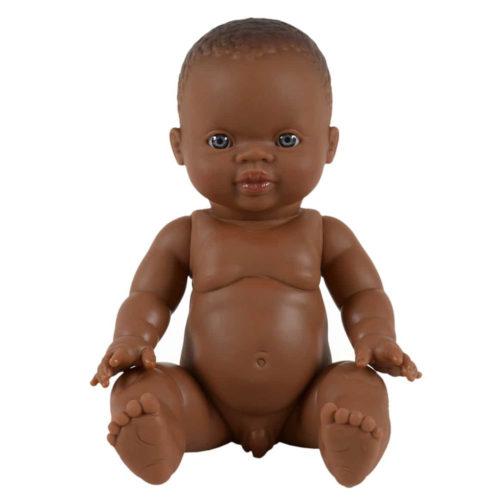 Baby Puppe Gordi African Boy auf www.mina-lola.com
